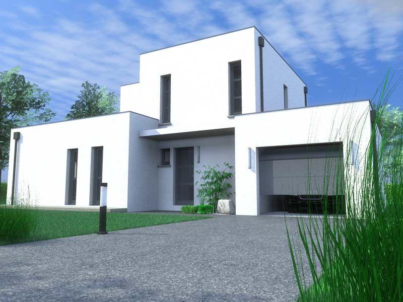 Architecture toit plat maisons contemporaines et bloc - Constructeur maison contemporaine toit plat avec pasio ...
