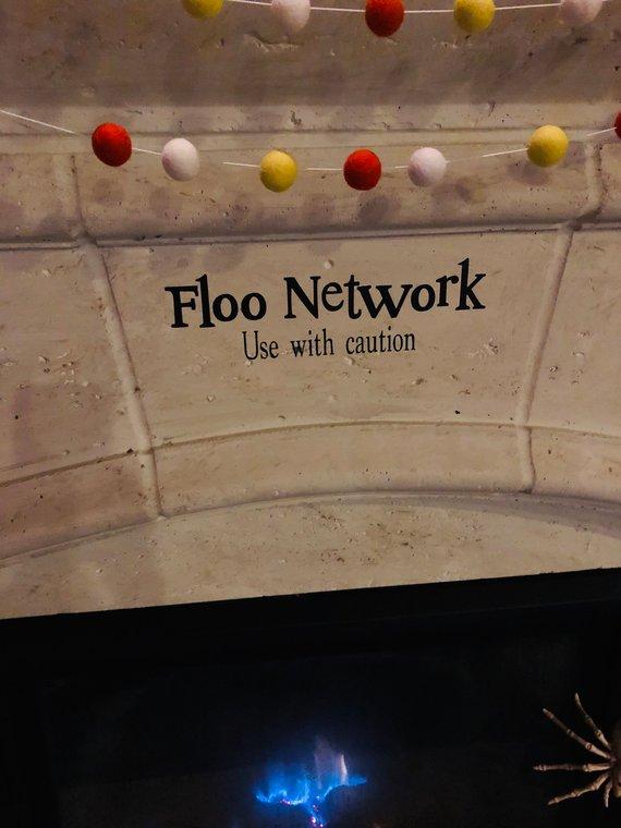 Harry Potter Floo Network Vinyl Decal Etsy Vinyl Decals Vinyl Door Decal Vinyl