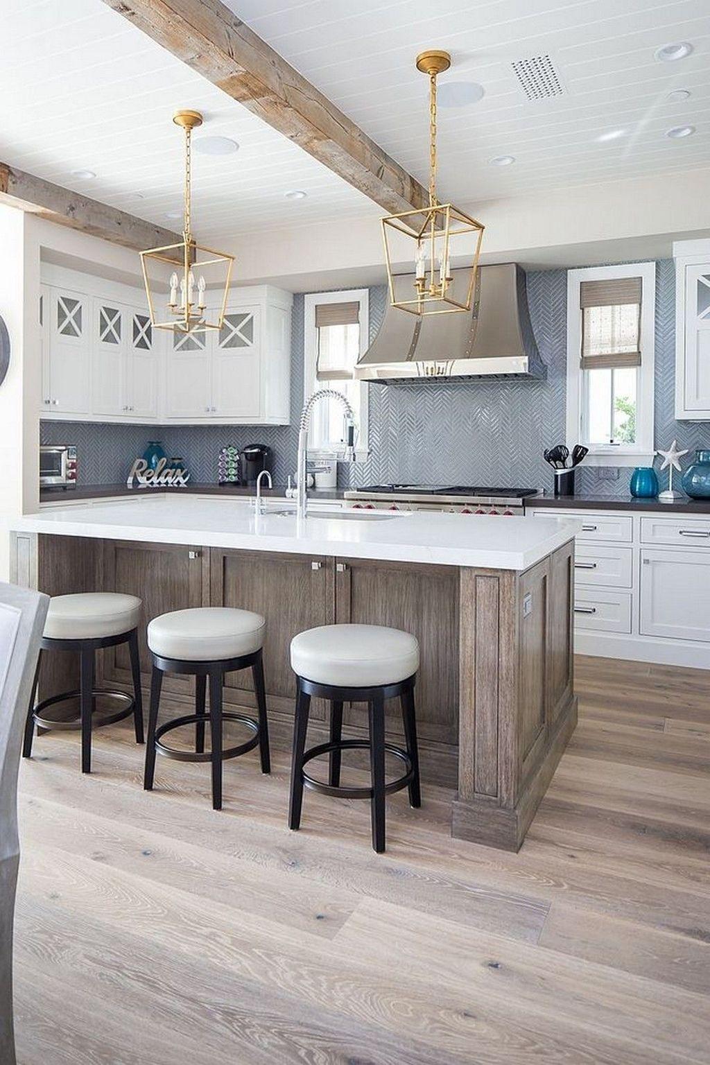 30 creative coastal backsplash design ideas for kitchen