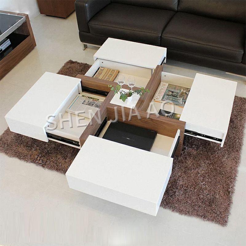 Creative Living Room Coffee Table Modern Multi Function Storage