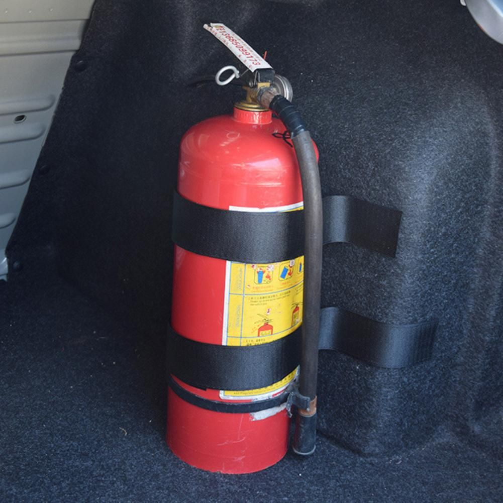 Car belt stowing tidying bag strap fire extinguisher