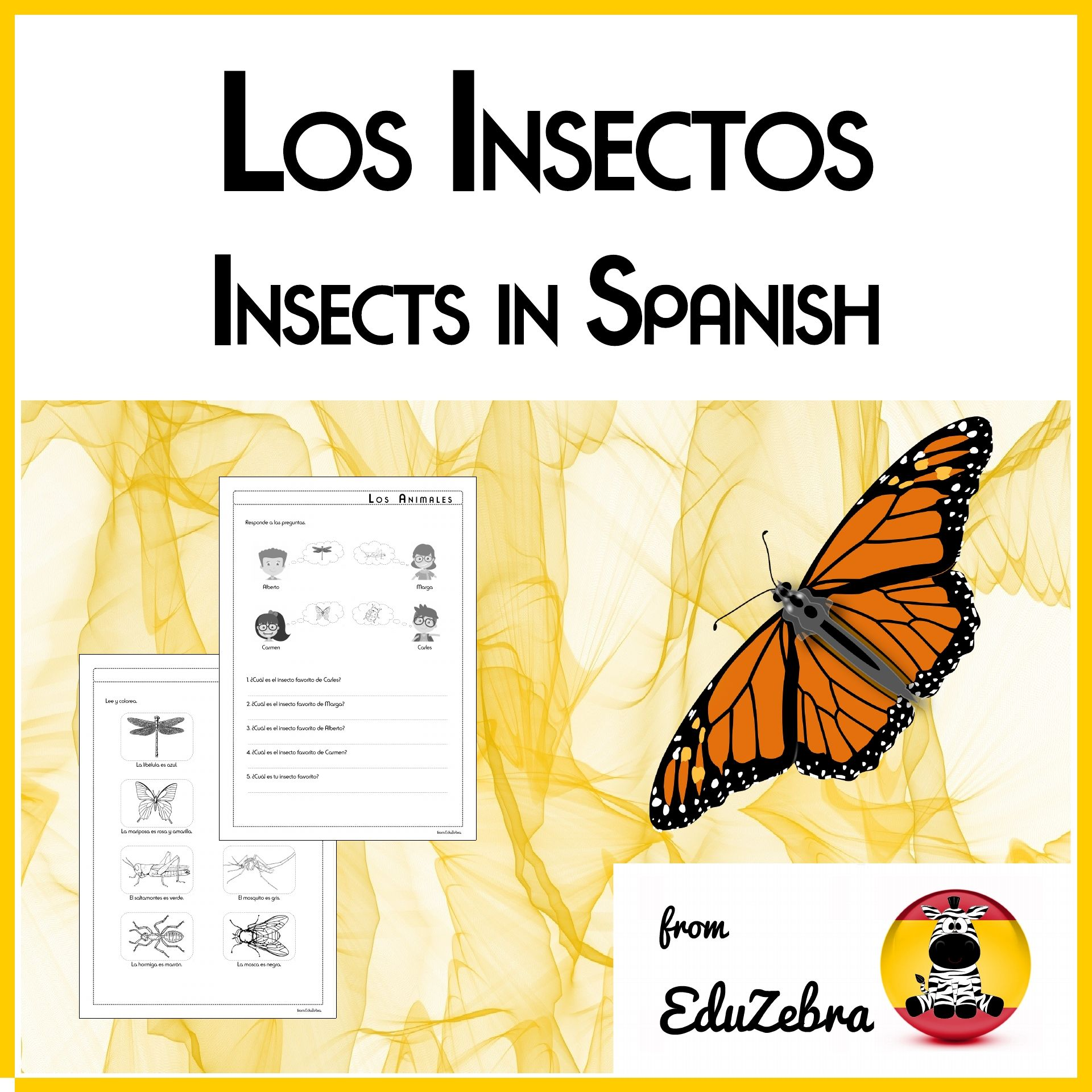 Animals In Spanish Insects