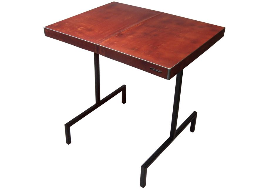Table made with the hood of a AMC Hornet 1975 by Oxyd Factory.