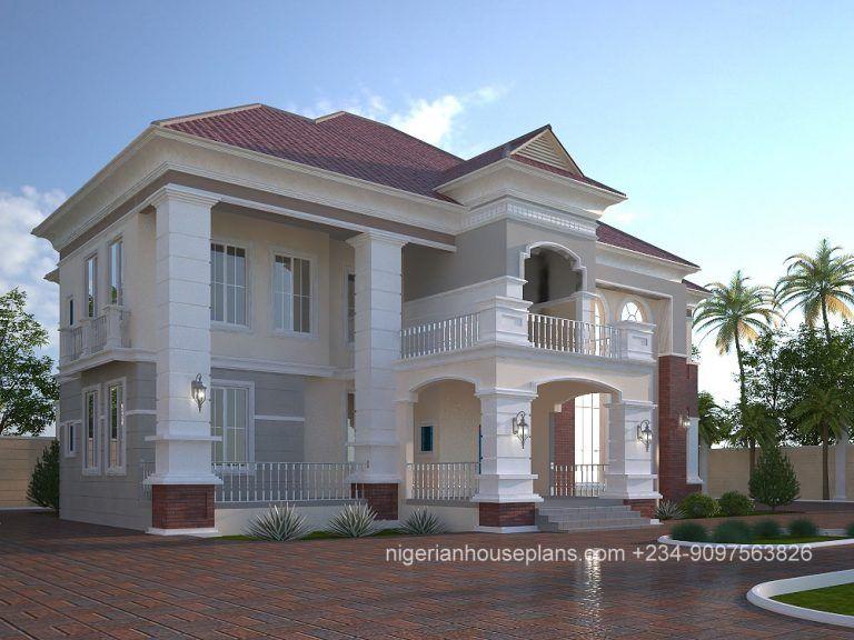 5 Bedroom Duplex Ref 5021 Nigerianhouseplans Duplex Design Building House Plans Designs House Window Design