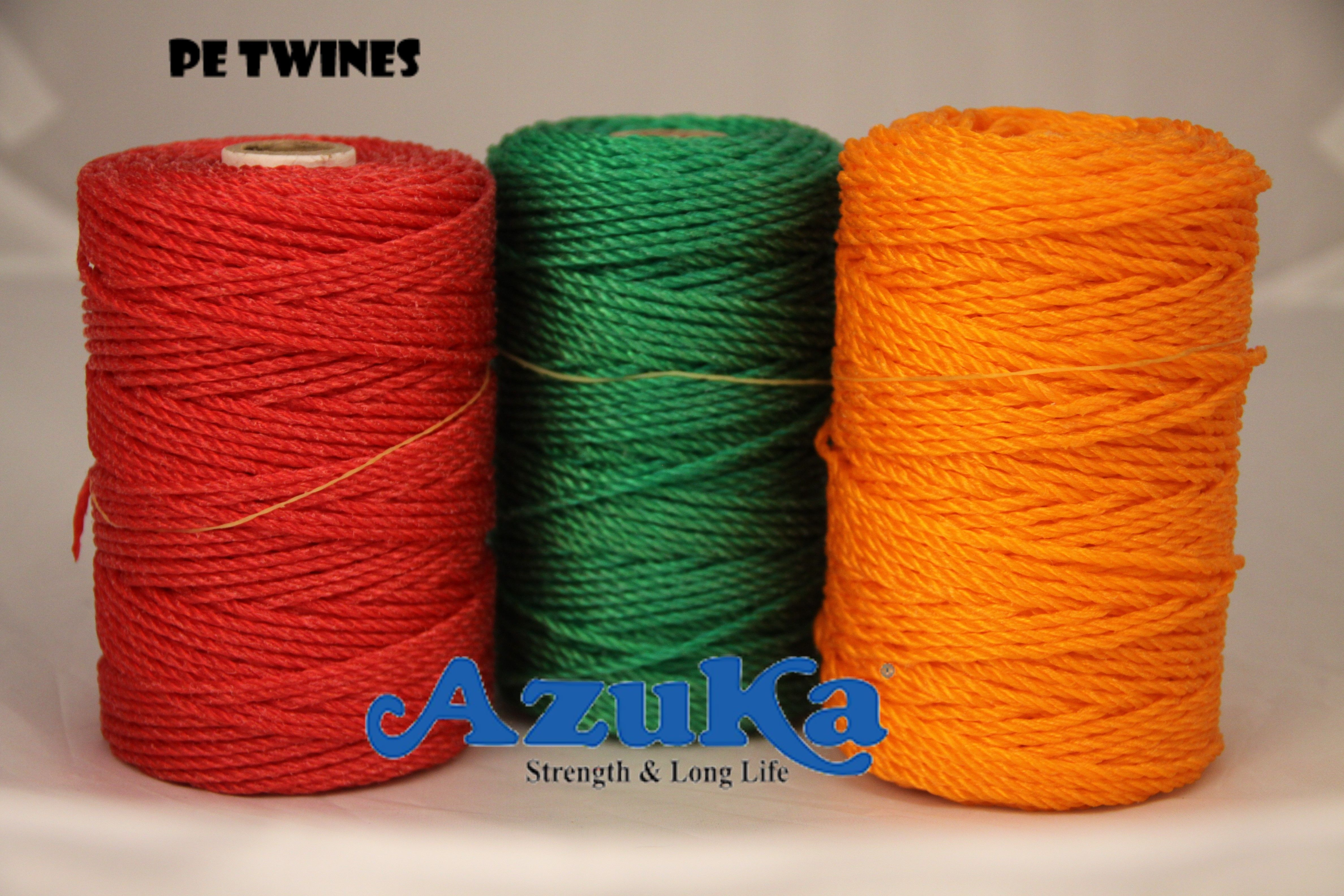 Fish net twine is made by connecting threads of fibre, metal or ...