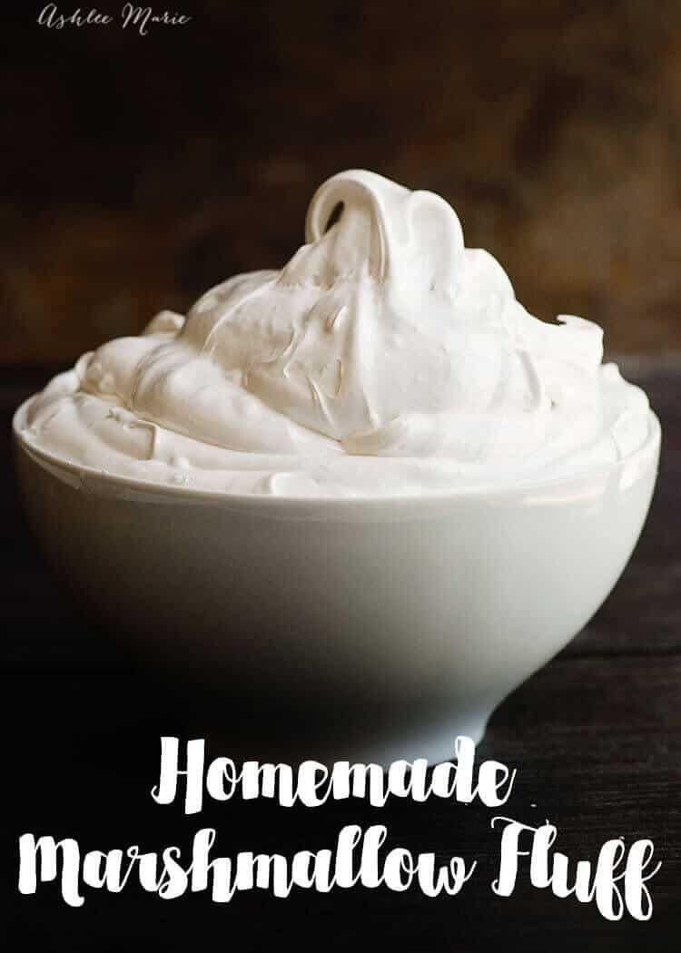 A recipe and video tutorial for making your own Homemade Marshmallow Fluff. Perfect for dipping, topping, frosting and more! | Ashlee Marie | Summer | Marshmallow Fluff | Marshmallow | Dessert | Frosting | #ashleemarie #marshmallowfluff #summer #dessert #marshmallow #marshmallowfluffrecipes A recipe and video tutorial for making your own Homemade Marshmallow Fluff. Perfect for dipping, topping, frosting and more! | Ashlee Marie | Summer | Marshmallow Fluff | Marshmallow | Dessert | Frosting | #a #marshmallowflufffrosting