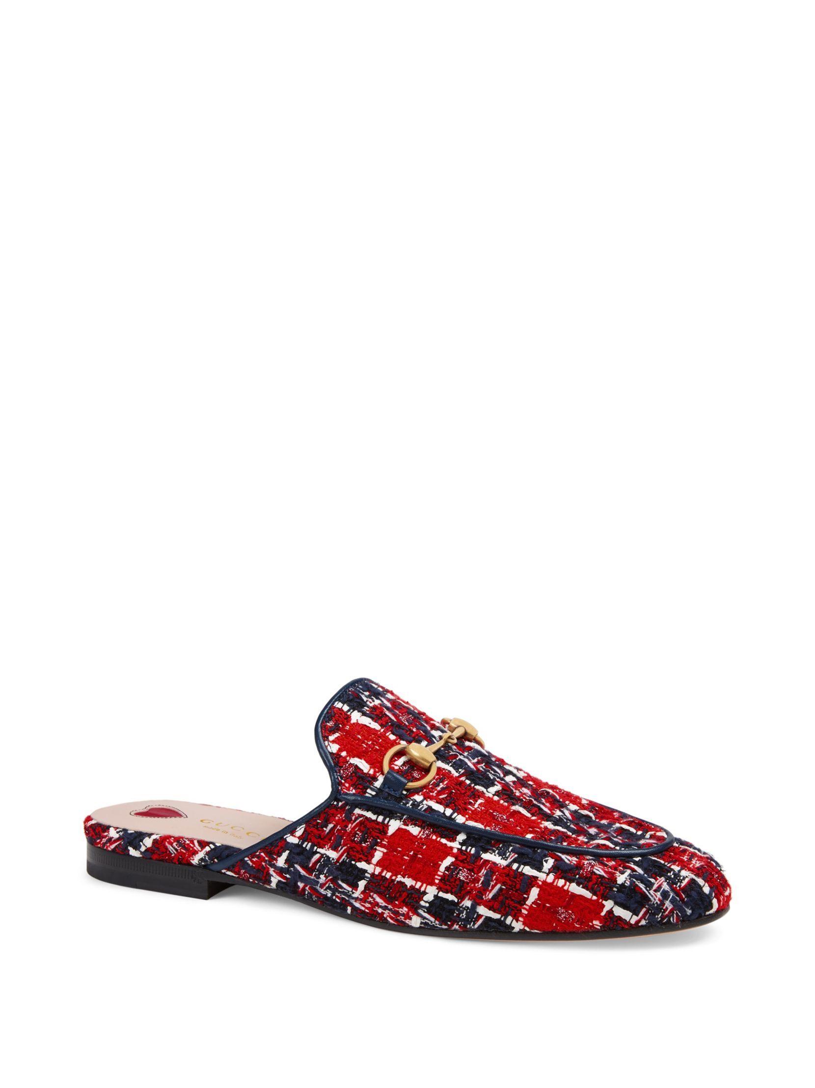 389d071bfc0 Gucci Princetown Tweed Slides