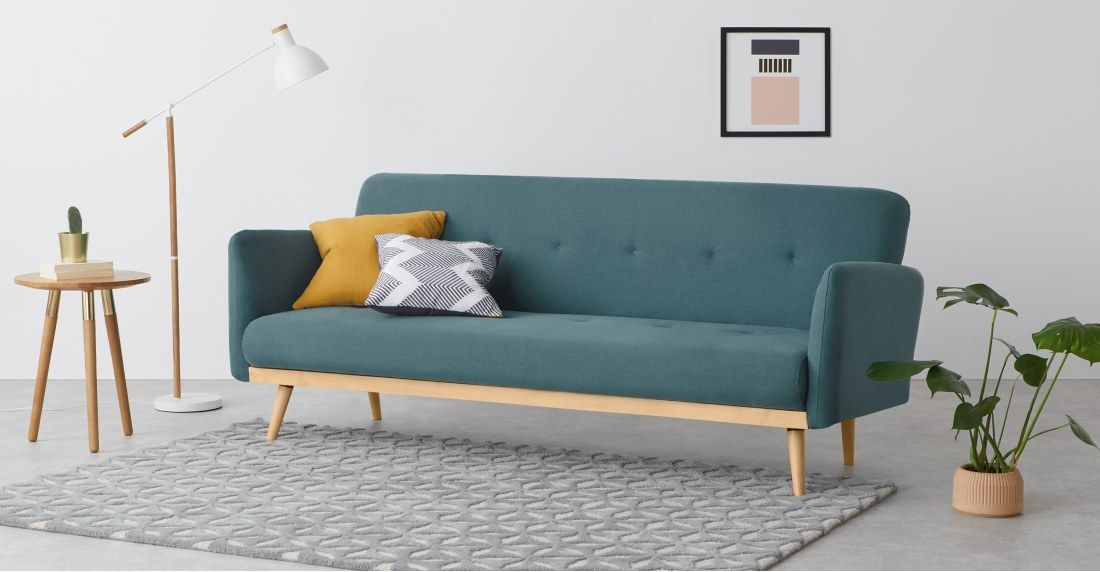 Stevie Click Clack Sofa Bed Sherbet Blue Sofa Sofa Bed