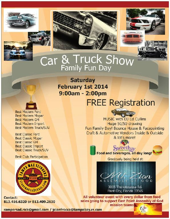 Car Truck Show Family Fun Day Saturday February Car - Plant city car show 2018