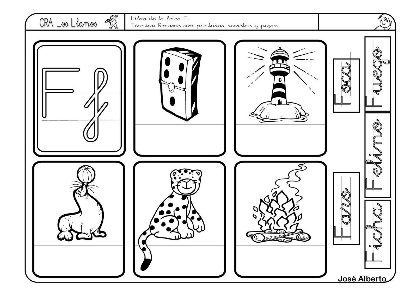 Lectoescritura Con La Letra F Fichas De Letras Letra F Letras Y