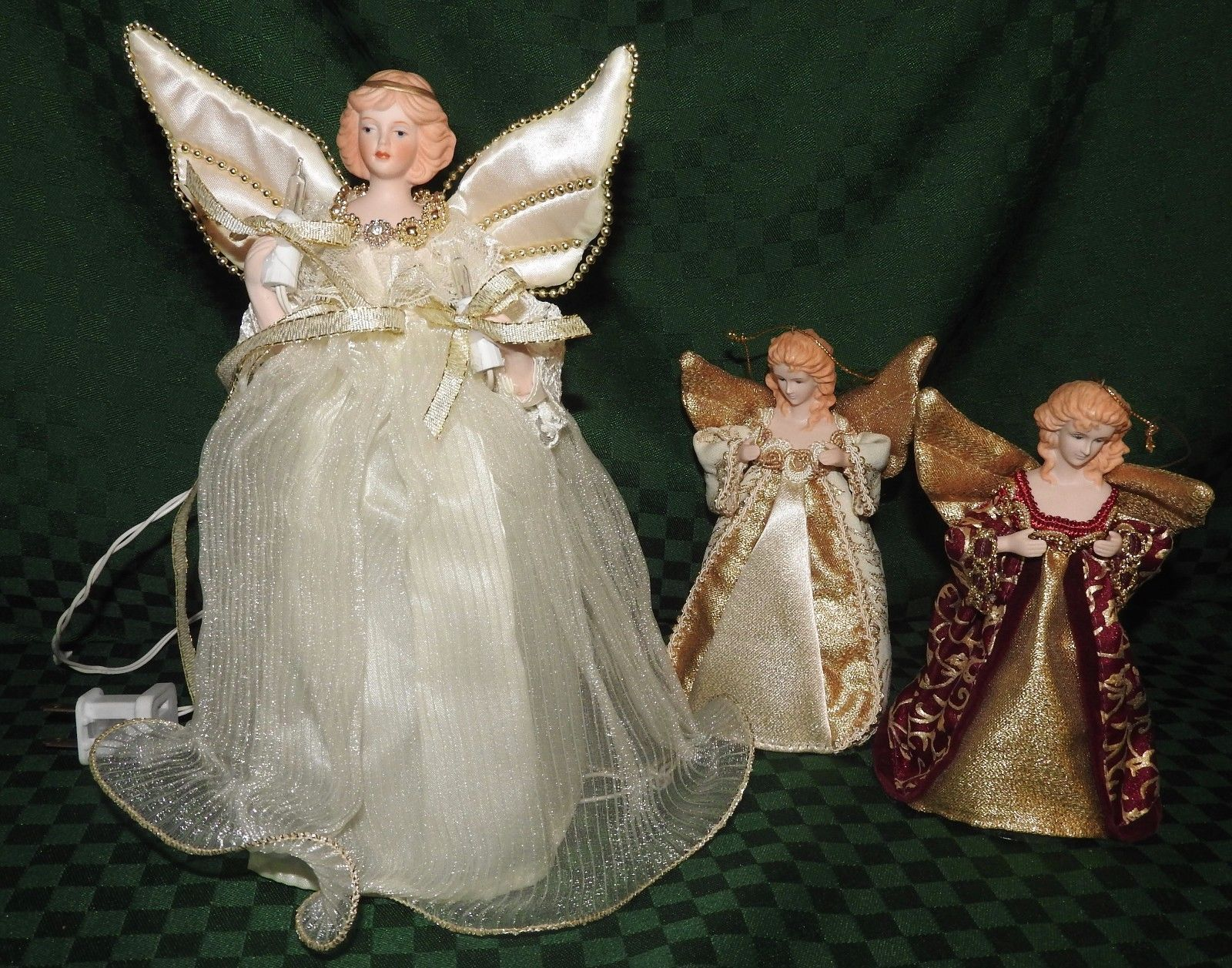 christmas tree angel topper lighted wtwo angel ornaments vintage