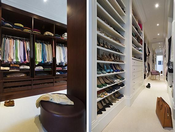 Walk In Closet Divided Into His And Hers Corridors Dream Closet Design Dream Closets Walk In Closet Design