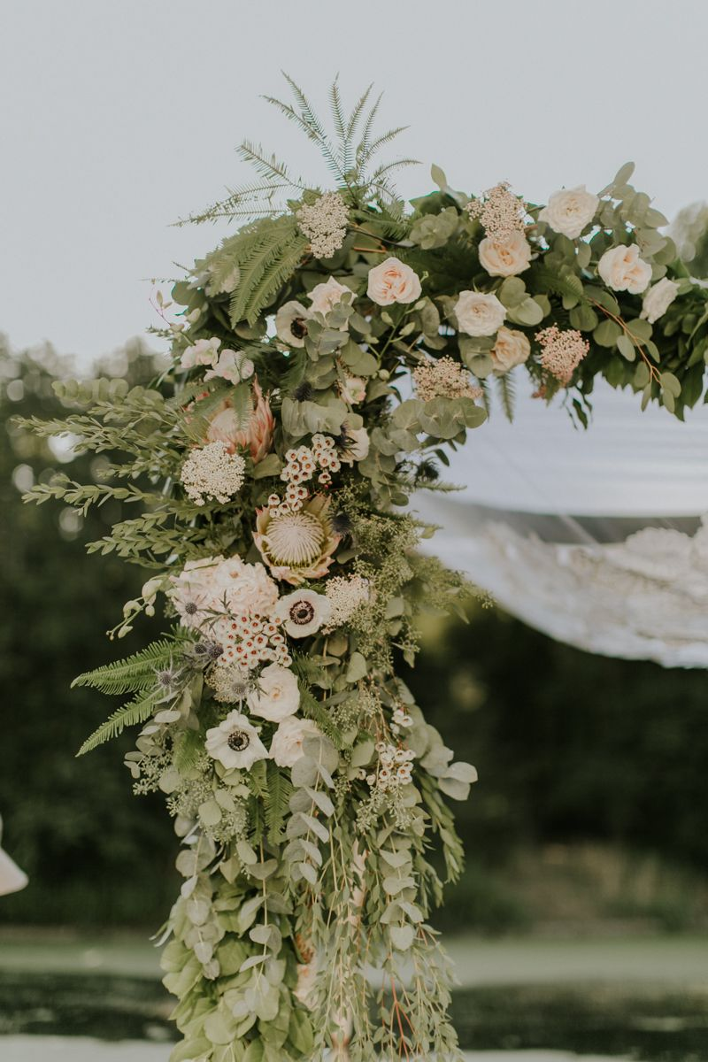 Design by ahn wedding chuppah flowers chuppah flowers