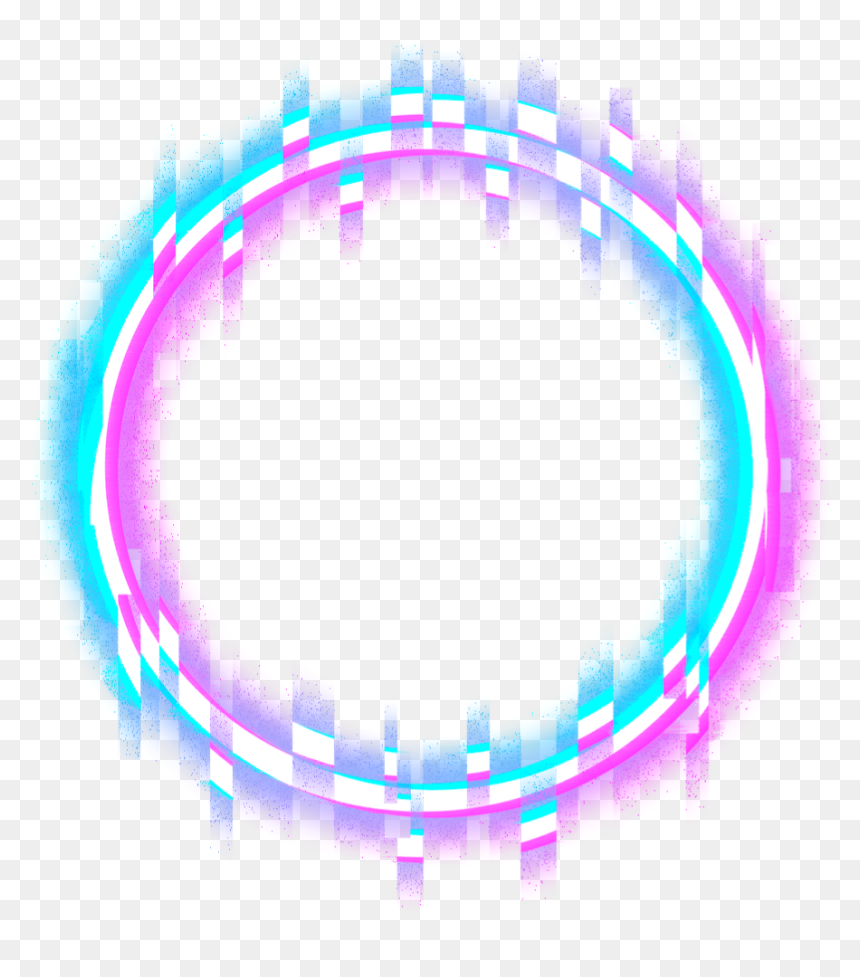 Circle Round Glitch Border Neon Error Geometric Neon Circle Glitch Png Transparent Png Is Pure And Creative Png Image Uploaded B Glitch Neon Png Neon