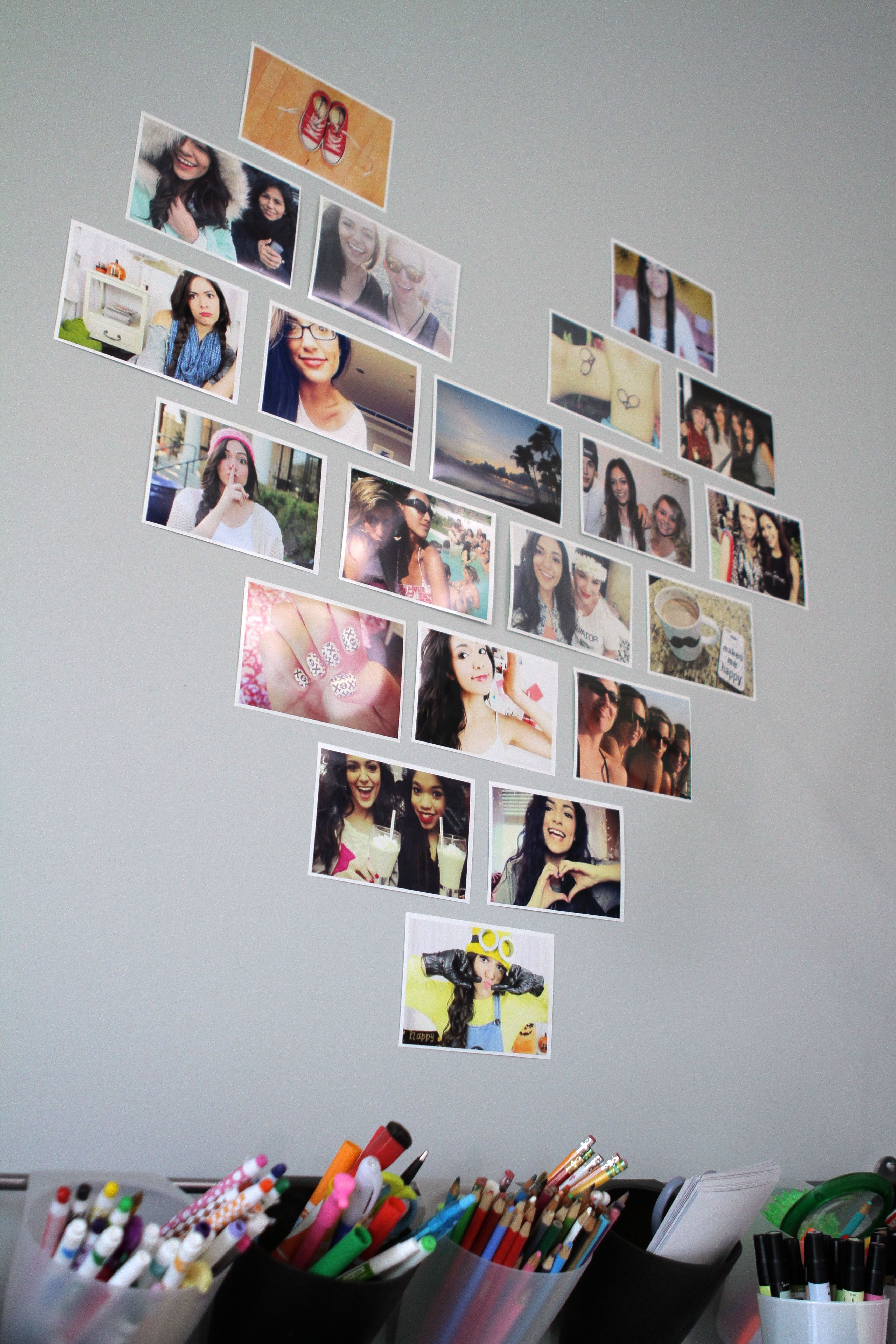 Wall Art Heart Collage : Decorate your room with photos in a heart layout bethany