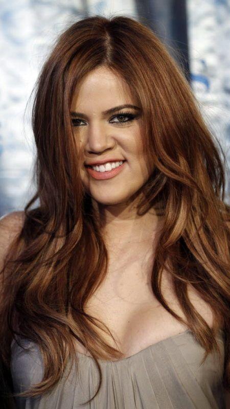 Khloé Kardashian Rötlich Braun Haarfarbe Haare Braune Haare