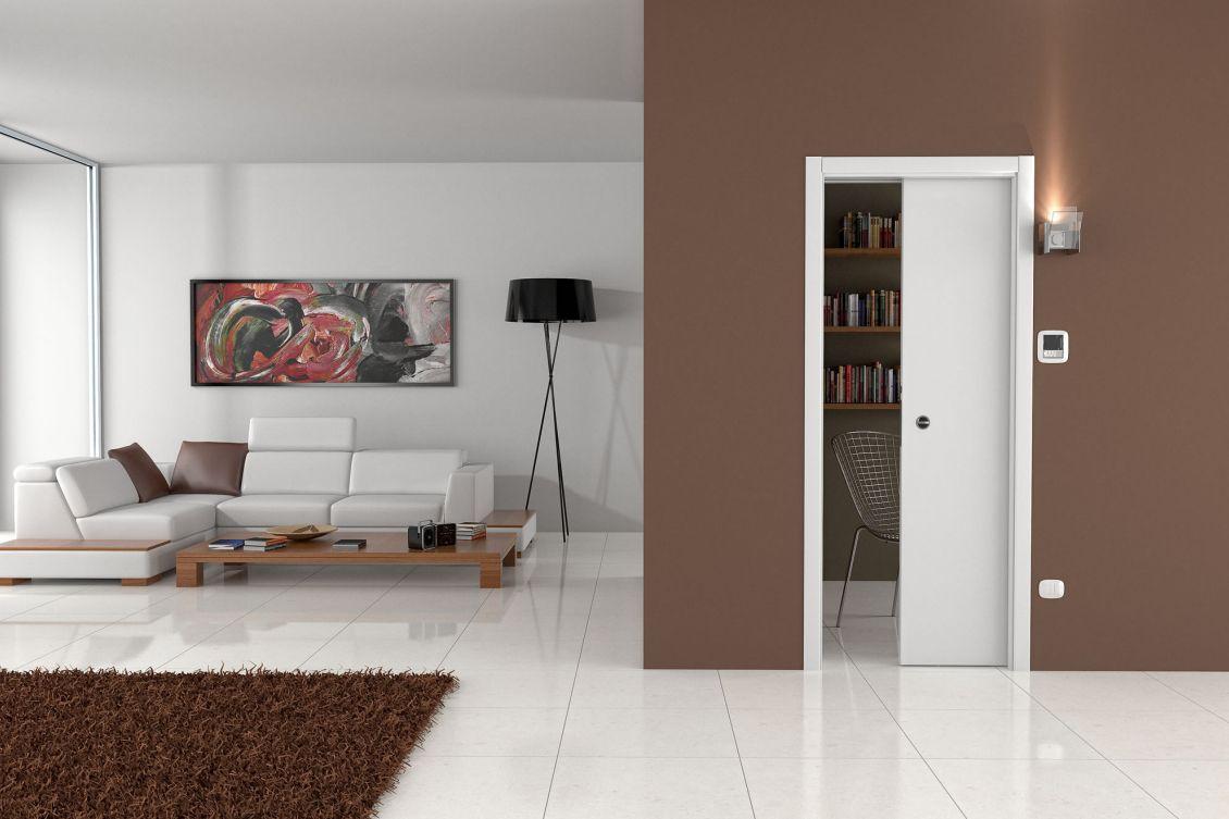 Sliding Door Into Wall portes coulissantes à galandage : ermetika - luminox simple