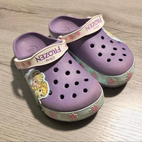 Girls Crocs Disney Frozen Size 13 in