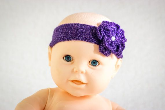 Knitting Pattern Baby Headband Knit Flower By Heaventoseven Baby