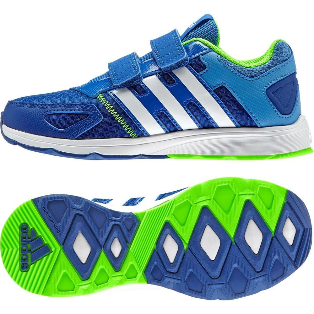Adidas Running Shoes Kids AZ-Faito Velcro B23788 Blue Green Trainers  Training  Adidas  Athletic 449b2cbca78