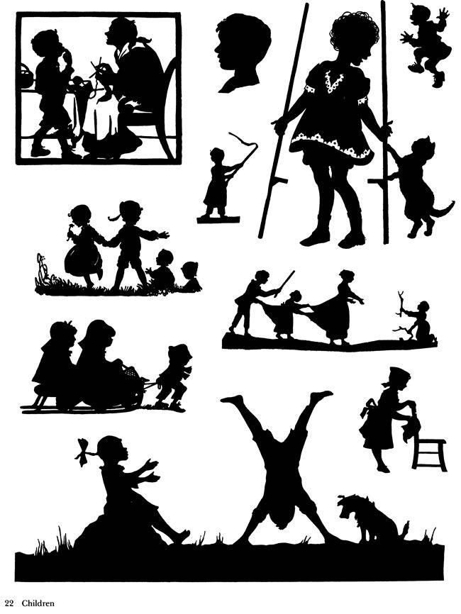 Welcome to dover publications silhouettes de l 39 enfance pochoir silhouette silhouette et pochoir - Silhouette papillon imprimer ...