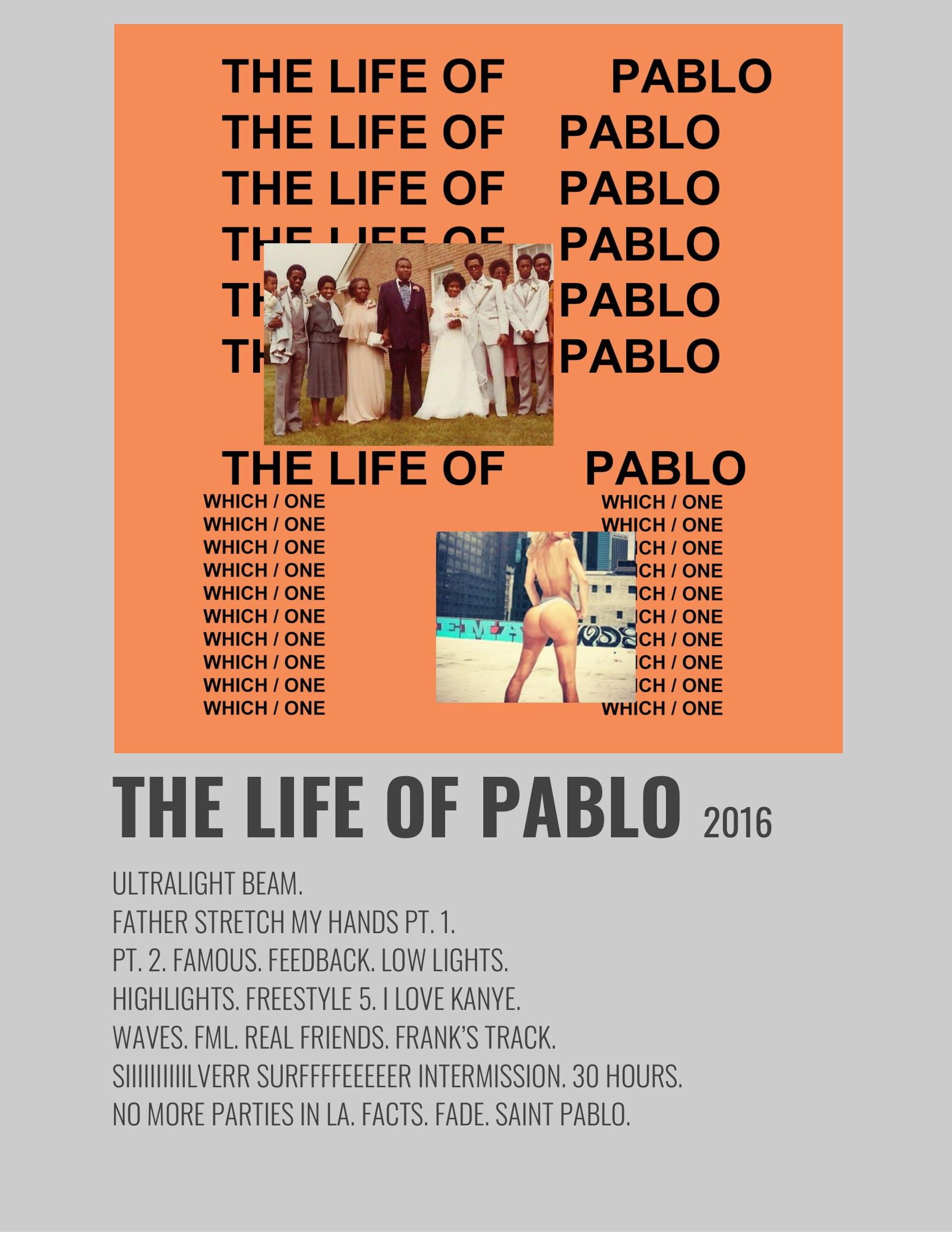 The Life Of Pablo In 2020 Music Poster Design Minimalist Music Music Poster Ideas