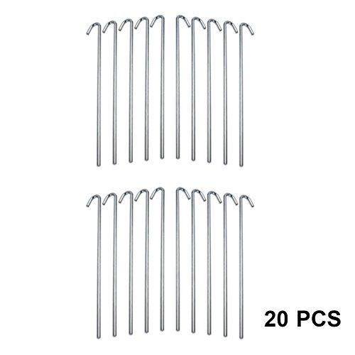 """HEAVY DUTY GALVANISED 9/"""" STEEL TENT PEGS METAL CAMPING HIGH QUALITY NEW"""