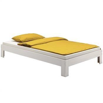 bett 140x200 kiefer massiv, futonbett jugendbett thomas in weiß lackiert in 140 x 200 cm, kiefer, Design ideen