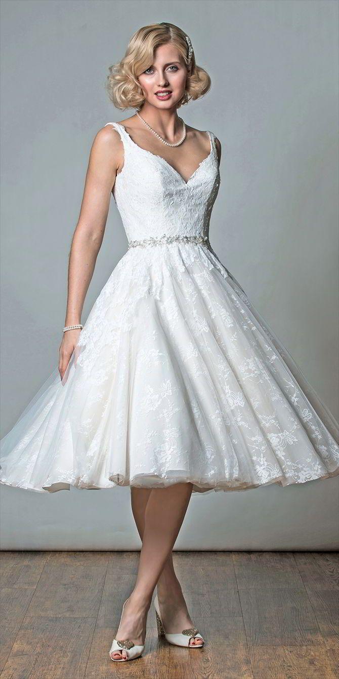 Rita Mae 2017 Short Wedding Dresses 50s style wedding