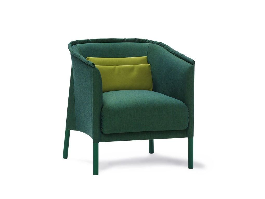 Gepolsterter Loungesessel aus Stoff TALO by SANCAL DISEÑO Design Sebastian Herkner