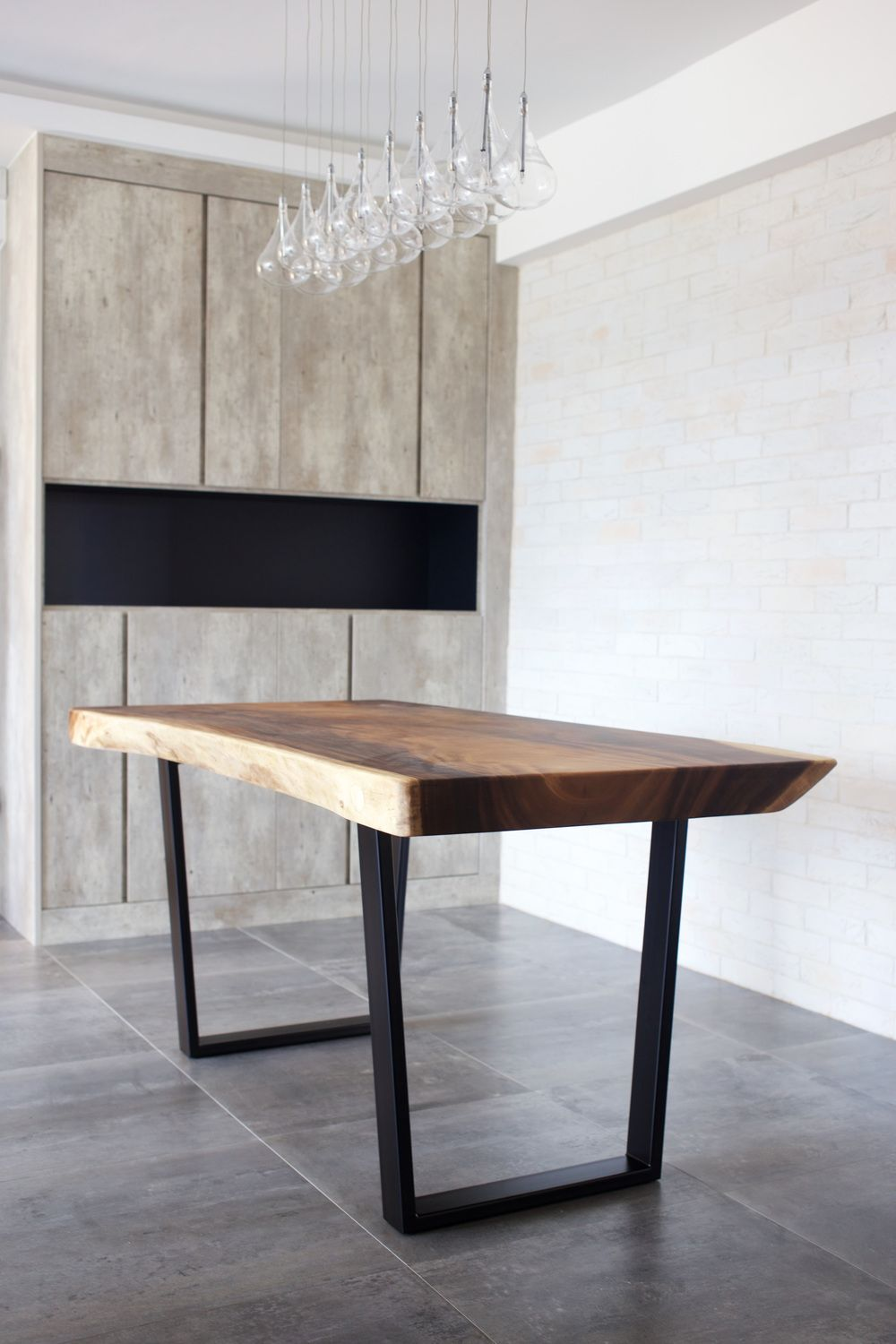 Suar Table With Tapered Black Powdercoated Legs X Herman Furniture
