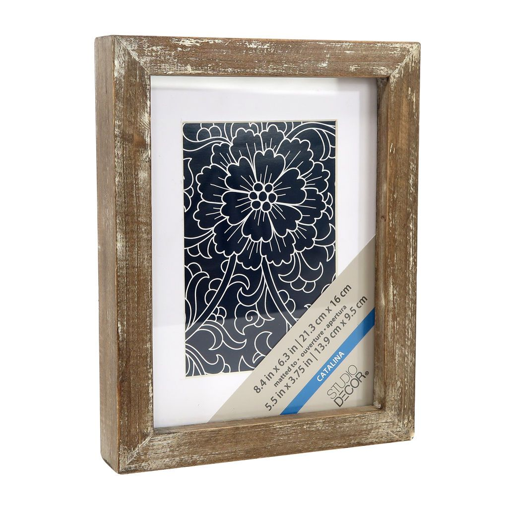 Rustic 4 X 6 Wooden Frame With Mat Expressions By Studio Decor Barn Wood Picture Frames Rustic Picture Frames Studio Decor