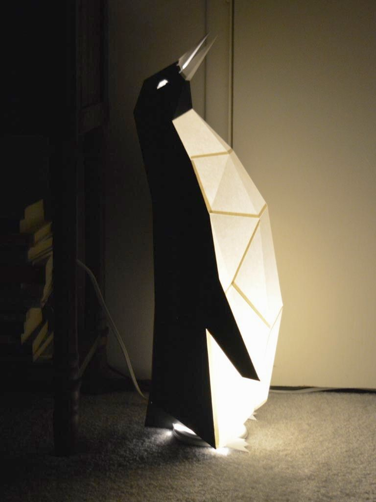 Penguin Lamp Build Your Own With This Pattern Instructions