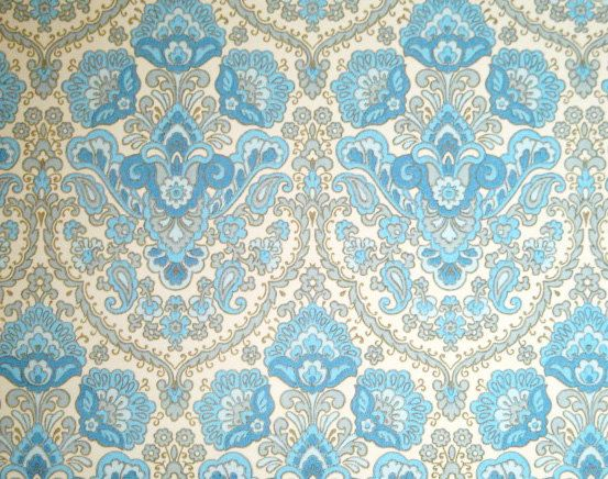 Victorian Vintage Wallpaper Blue Fancy Retro Style 1960s Etsy Vintage Wallpaper Wallpapers Vintage Retro Wallpaper