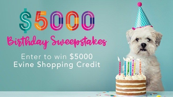 Birthday bash sweepstakes win 5000 evine shopping