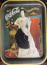1968 Lilian Russell Collectable Coke Tray Repo Of 1904 Edition