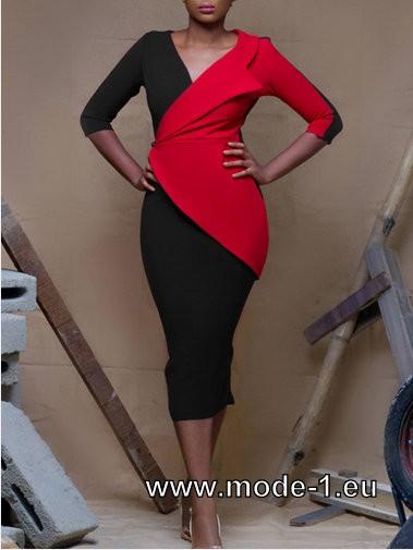 Elegantes Bodycon Kleid 2020 in Schwarz Rot #kleid # ...