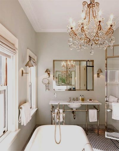 Luxury Bathroom Crystal Chandelier Bathrooms In