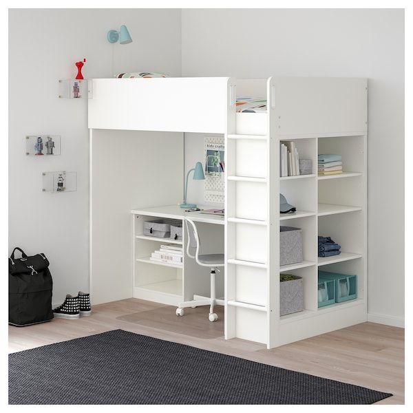 Photo of STUVA Loft bed combo w 2 shlvs/3 shlvs – white – IKEA