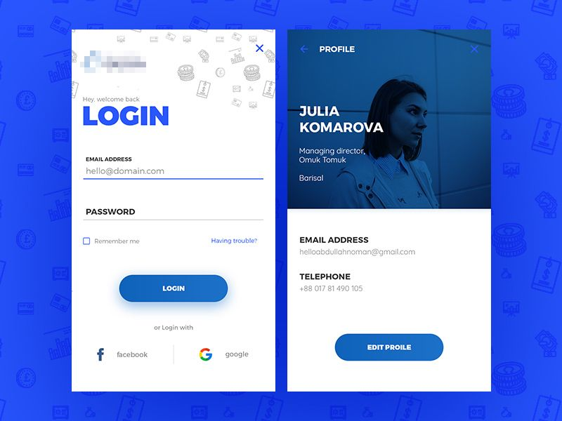 Money Transfer App Work in Progress Ios app design