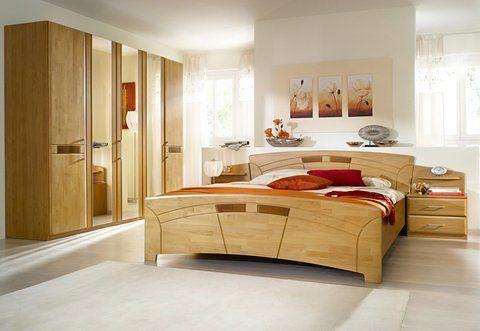 Home affaire Schlafzimmer-Set (4-tlg) »Sarah«, natur, Landhaus Stil - schlafzimmer set 180x200