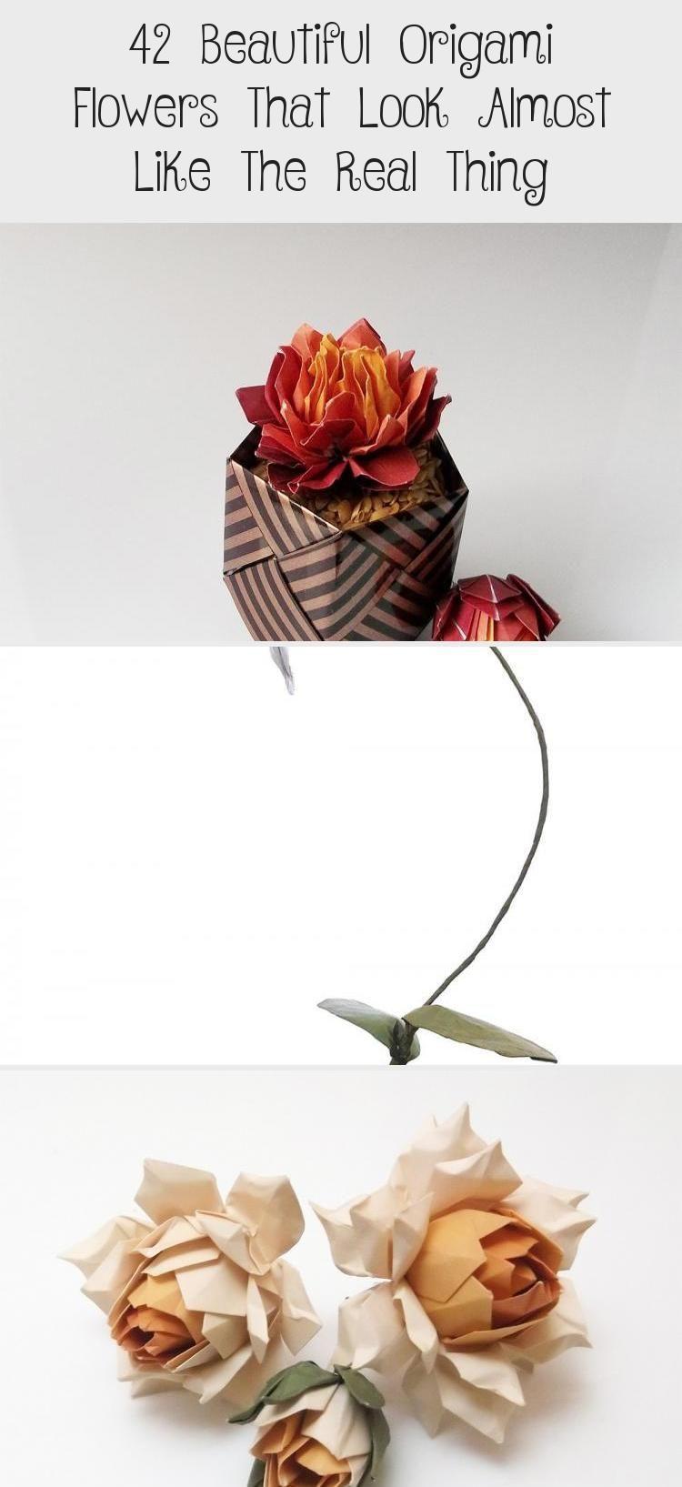 Photo of 42 wunderschöne Origami-Blumen, die fast wie das Original aussehen #origamiPlane …