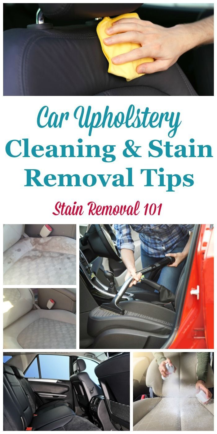 Car Upholstery Cleaning Tips & Stain Removal Tips