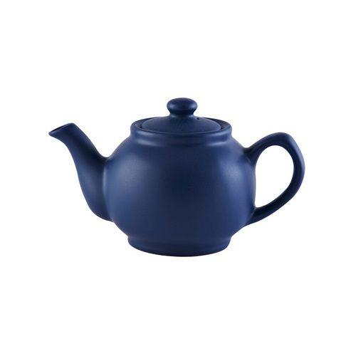 Matt Blue 2 Cup Teapot