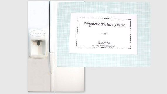 4 x 6 Magnetic Picture Frame Aqua Plaid by KendollMade on Etsy ...