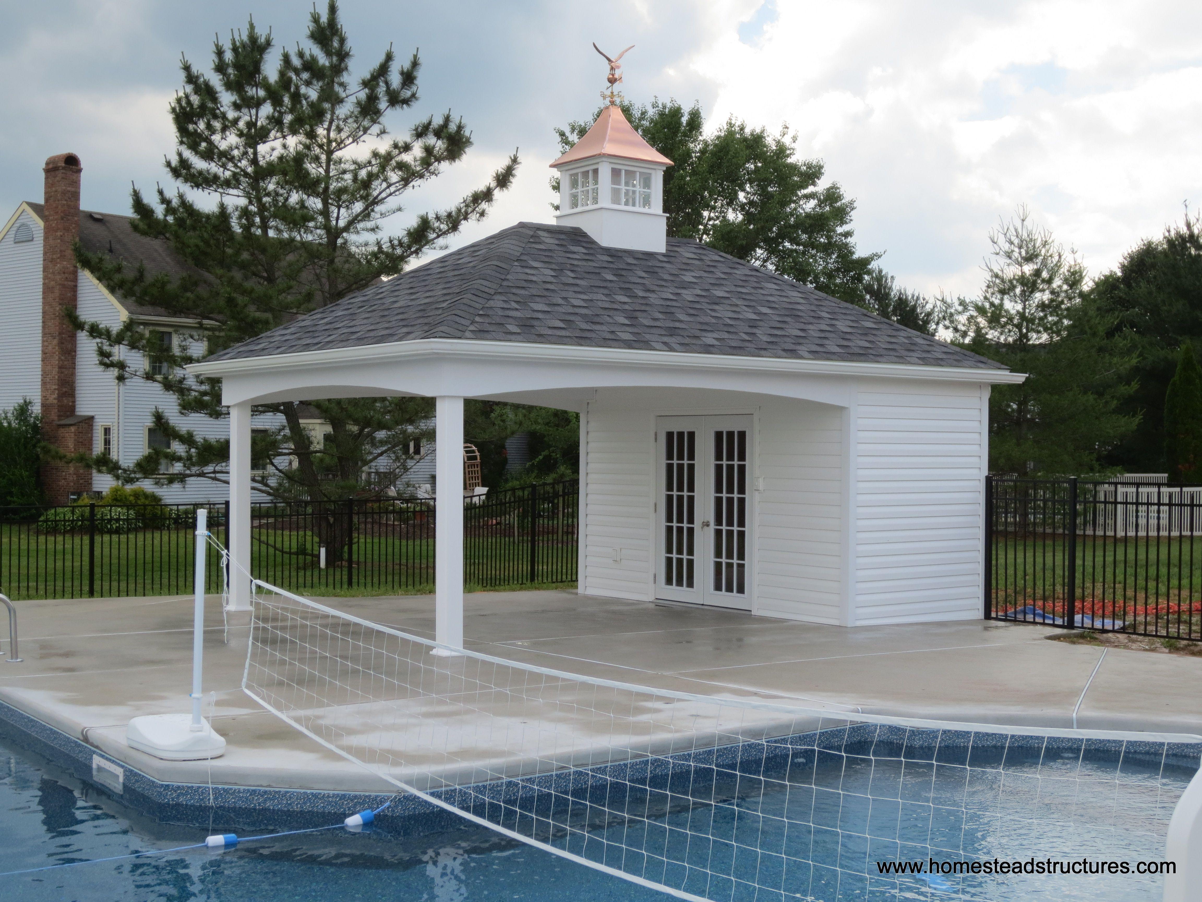 14 X 20 Avalon Pool House Vinyl Siding Pool