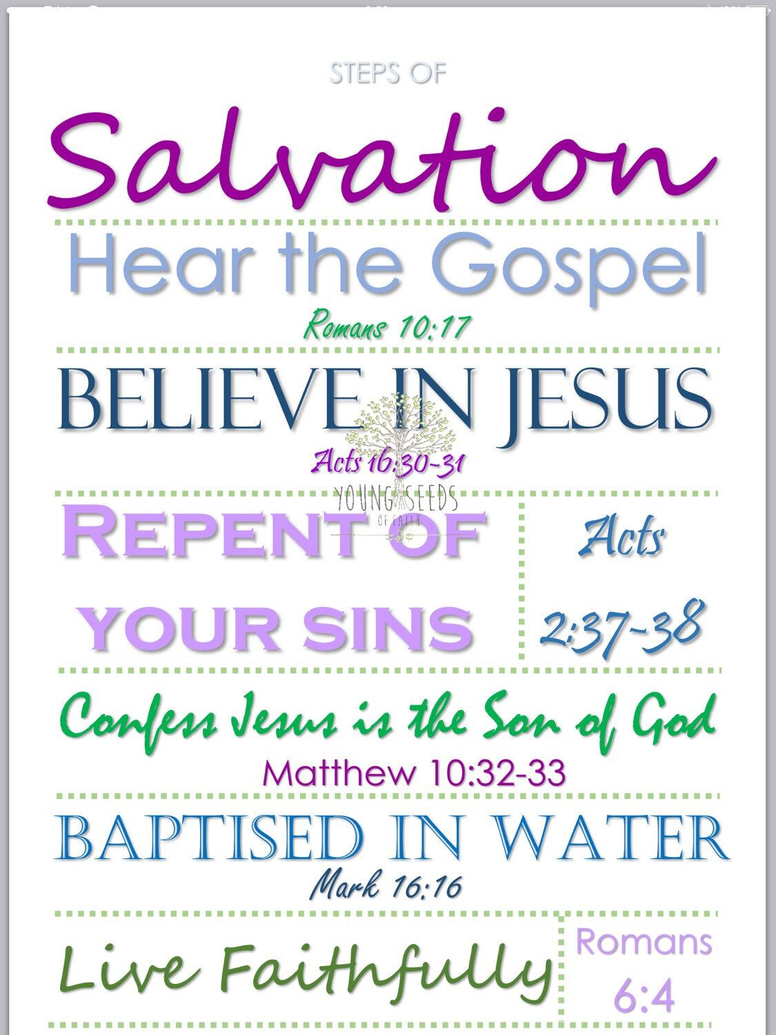YOUTH BIBLE STUDY COURSE Lesson 6: Salvation in Jesus The ...