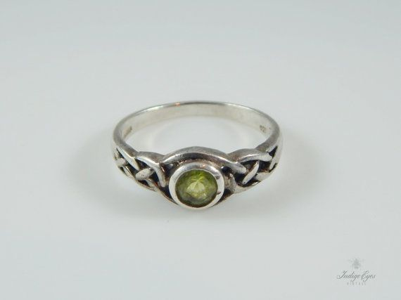 SOLD - Vintage Sterling Silver Irish Celtic Knot by IndigoEyesVintage