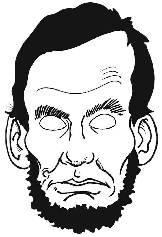 Abraham Lincoln Puppet Mask Abraham Lincoln For Kids Abraham
