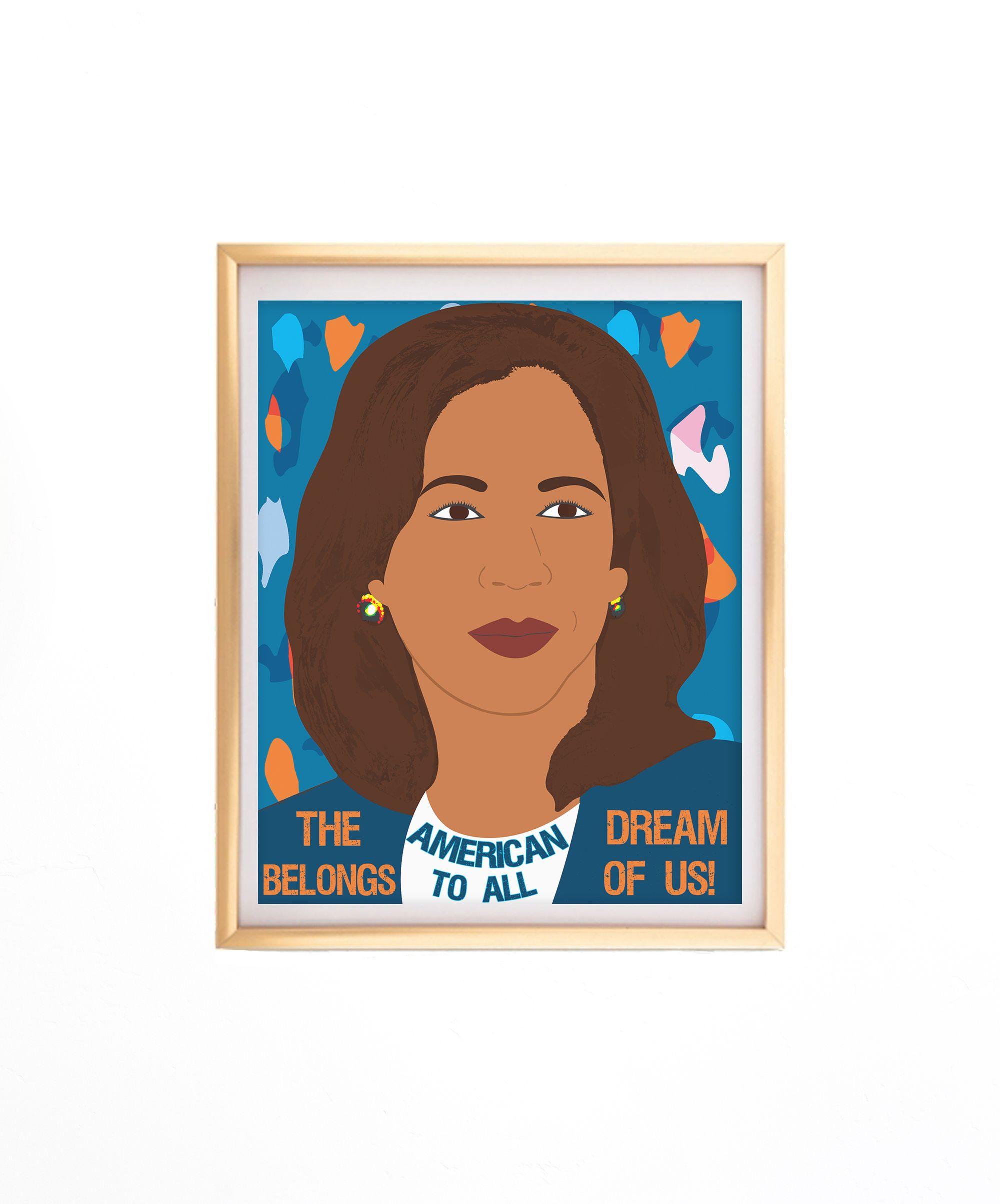 feminist print Madam Vice President Print kamala harris vice president kamala harris print feminist poster womens history month
